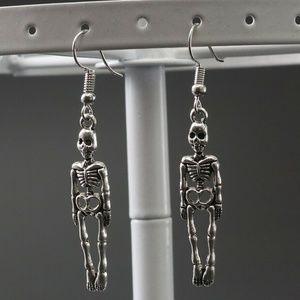 Skeleton Vintage Skull Dangle Gothic Earrings